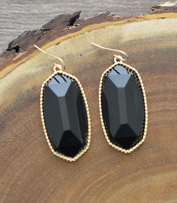 New Arrival :: Wholesale Resin Oval Drop Earrings