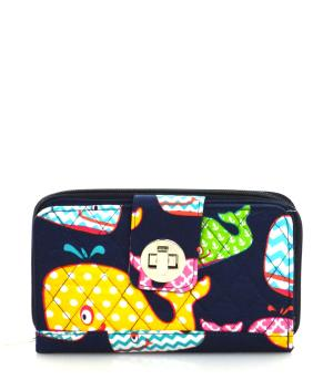 HANDBAGS :: Wallets/Small Accessories :: Whale Print Quilted Wallet