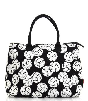 TRAVEL :: Shopping Totes :: Volleyball Quilted Large Tote