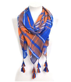 <font color=ORANGE>COLLEGIATE</font> :: Game Day Plaid Scarf
