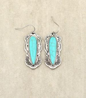 <font color=Turquoise>TURQUOISE JEWELRY</font> :: Turquoise Antiqued Earrings