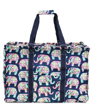 TRAVEL :: CASSEROLE | COOLERS | UTILITY TOTES :: Elephant Print Framed Tote Bag