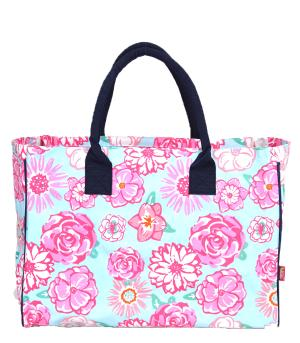 TRAVEL :: Shopping Totes :: Flower Print Canvas Tote