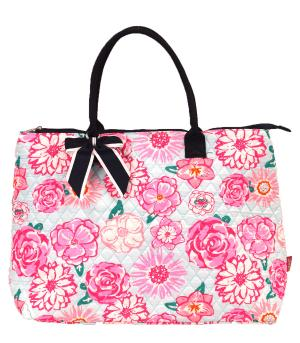 TRAVEL :: Shopping Totes :: Flower Quilted Large Tote
