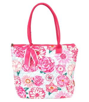 TRAVEL :: Shopping Totes :: Flower Quilted Tote