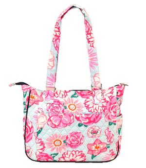 TRAVEL :: Shopping Totes :: Flower Quilted Shoulder Bag