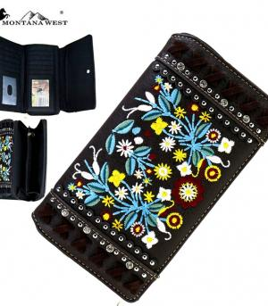 HANDBAGS :: Wallets/Small Accessories :: Montana West Embroidered Collection