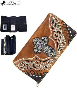 HANDBAGS :: Wallets/Small Accessories :: Montana West Cross Wallet