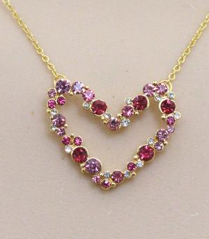 <font color=red>VALENTINE'S</font> :: Bling Heart Necklace