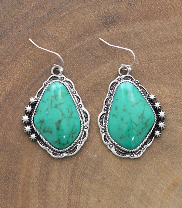 New Arrival :: Wholesale Tipi Western Turquoise Earrings