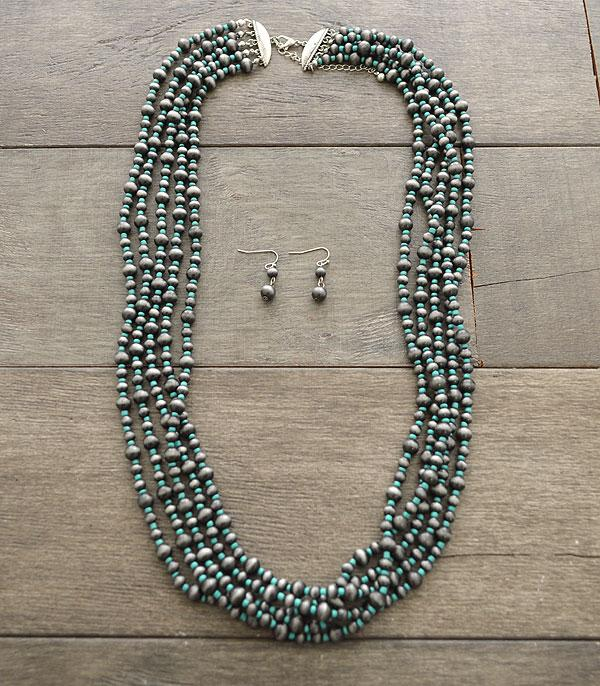 New Arrival :: Navajo Beads Layered Necklace