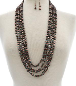 New Arrival :: Wholesale Navajo Beads Layered Necklace
