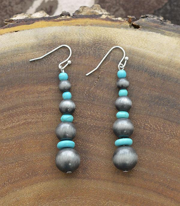 New Arrival :: Wholesale Navajo Pearl Drop Earrings