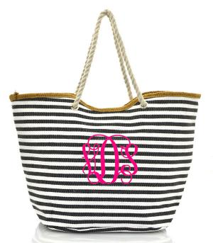 TRAVEL :: Shopping Totes :: Striped Beach Tote