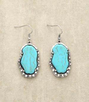 <font color=Turquoise>TURQUOISE JEWELRY</font> :: Turquoise Stone Earrings
