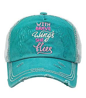 New Arrival :: With Brave Wings She Flies Ballcap