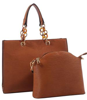 New Arrival :: 2 In 1 Textured Tote Bag