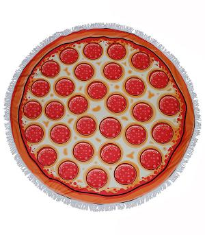 New Arrival :: Pizza Print Round Beach Towel