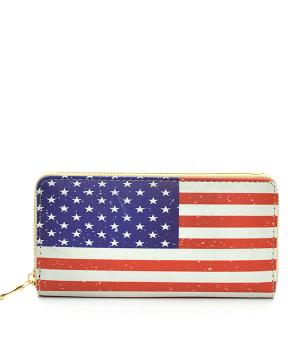 New Arrival :: American Flag Print Wallet