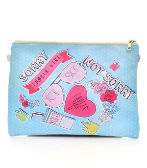 New Arrival :: Sorry Not Sorry Print Fashion Clutch