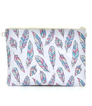 New Arrival :: Feather Print Fashion Clutch