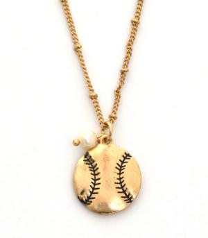 New Arrival :: Baseball Charm Necklace