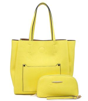 New Arrival :: 2 in 1 Soft Trapezoid Tote