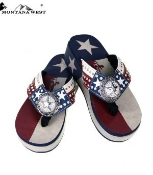New Arrival :: Montana West Texas Pride Collection Flip Flops