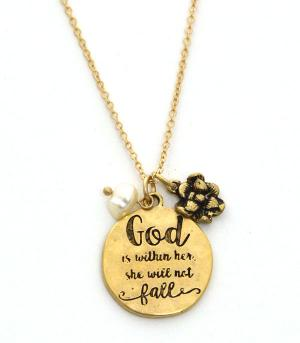 New Arrival :: God Is Within Her Necklace Set