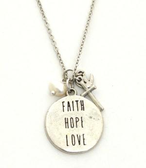 New Arrival :: Faith Hope Love Necklace Set