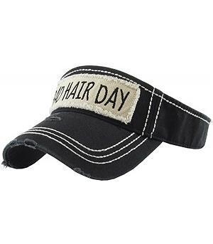 8a0de893 Wholesale Handbag Fashion Jewelry WHATS NEW HAT8246BK Bad Hair Day Visor at  YKTrading.com