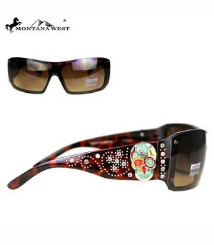 New Arrival :: Montana West Sugar Skull Collection Sunglasses
