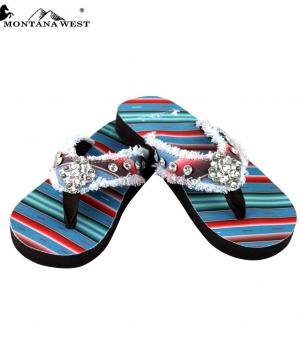 New Arrival :: Montana West Serape Collection Flip Flops
