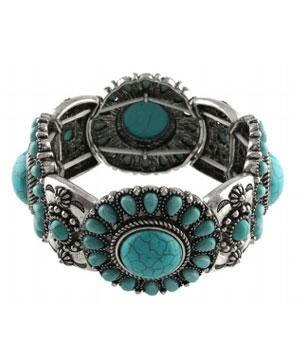 <font color=Turquoise>TURQUOISE JEWELRY</font> :: Concho Bracelet