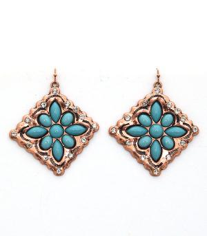 <font color=Turquoise>TURQUOISE JEWELRY</font> :: Turquoise Diamond Dangle Earrings