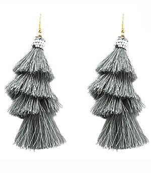 WHAT'S NEW :: Silk Thread Layered Tassel Earrings