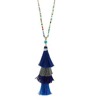 WHAT'S NEW :: Beaded Layered Tassel Necklace