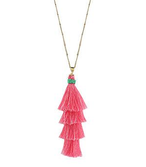 WHAT'S NEW :: Silk Thread Layered Tassel Necklace