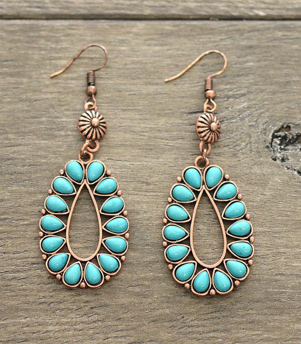 <font color=Turquoise>TURQUOISE JEWELRY</font> :: Teardrop Turquoise Earrings