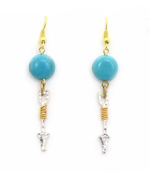 <font color=Turquoise>TURQUOISE JEWELRY</font> :: Turquoise Accent Arrow Earrings