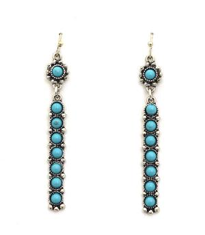 <font color=Turquoise>TURQUOISE JEWELRY</font> :: Turquoise Bar Earrings