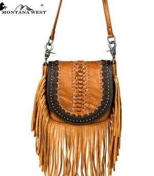 New Arrival :: Montana West Real Leather Crossbody