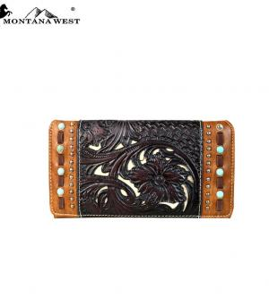 HANDBAGS :: Wallets/Small Accessories :: Trinity Ranch Tooled Collection Wallet