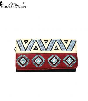 HANDBAGS :: Wallets/Small Accessories :: Montana West Embroidered Wallet