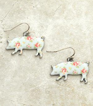 New Arrival :: Floral Piggy Earrings