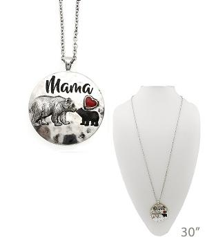 New Arrival :: Mama Bear w/Cub Necklace
