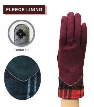 GLOVES/ARM WARMERS :: Checkered Accent Gloves