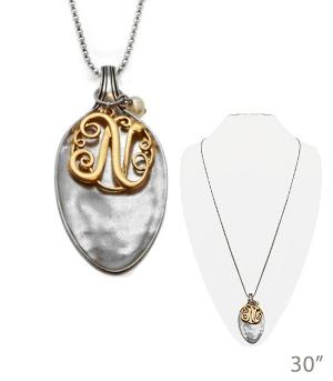 New Arrival :: Monogram Spoon Pendant Necklace