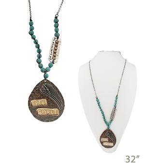 New Arrival :: Free Spirit Turquoise Western Necklace