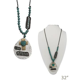 New Arrival :: I Am Blessed Turquoise Necklace